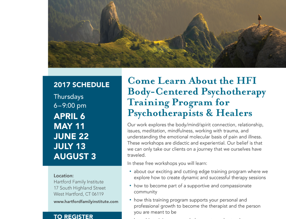 FREE Introductory Workshops: HFI Body – Centered Psychotherapy Training Program